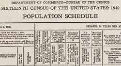 Top section of the 1940 census