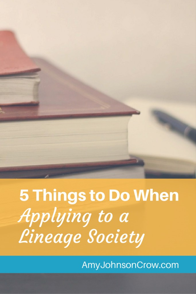 Applying to a lineage society is a great way to improve your genealogy research skills. Here are 5 tips to help you have a successful application.