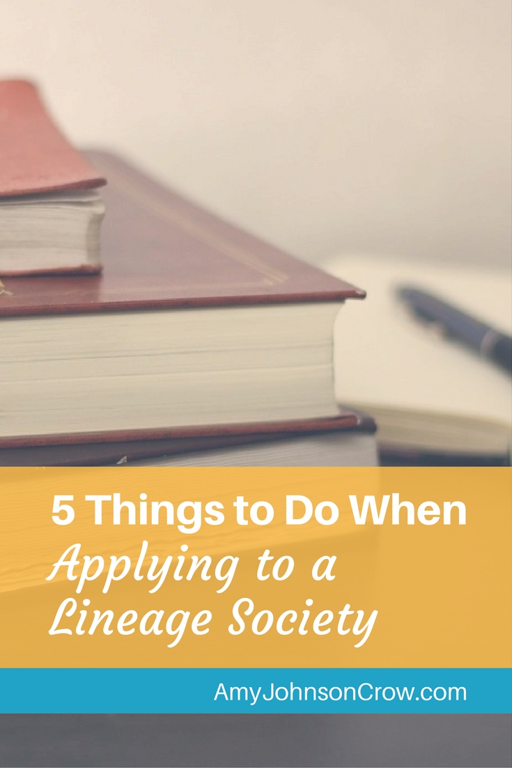 Applying to a lineage society is a great way to improve your research skills. Here are 5 tips to get you started.