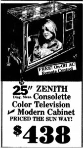 25 inch color television