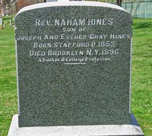 Rev. Naham Hines, Maple Grove Cemetery, Licking County, Ohio