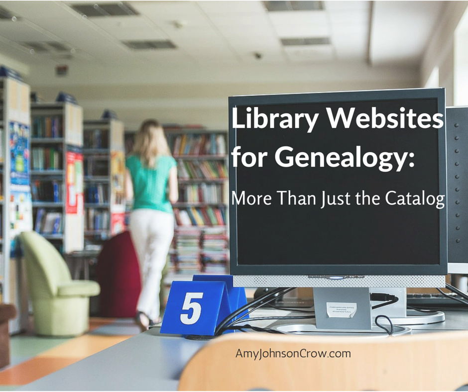 Library websites for genealogy