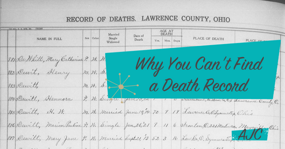 why you can't find a death record (and some things that might help ...