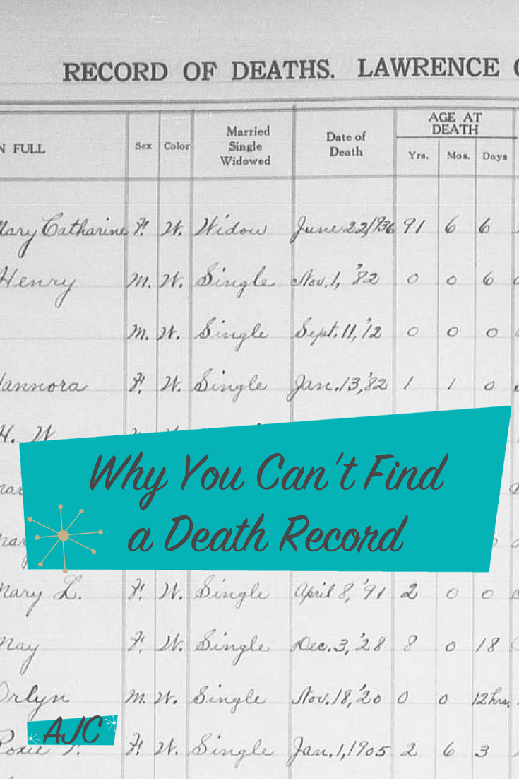 Why You Cant Find A Death Record And Some Things That Might Help