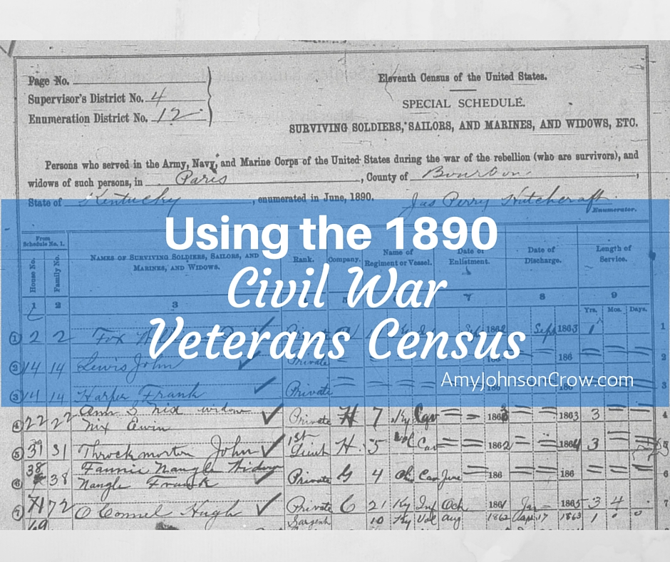 Using the 1890 Civil War Veterans Census