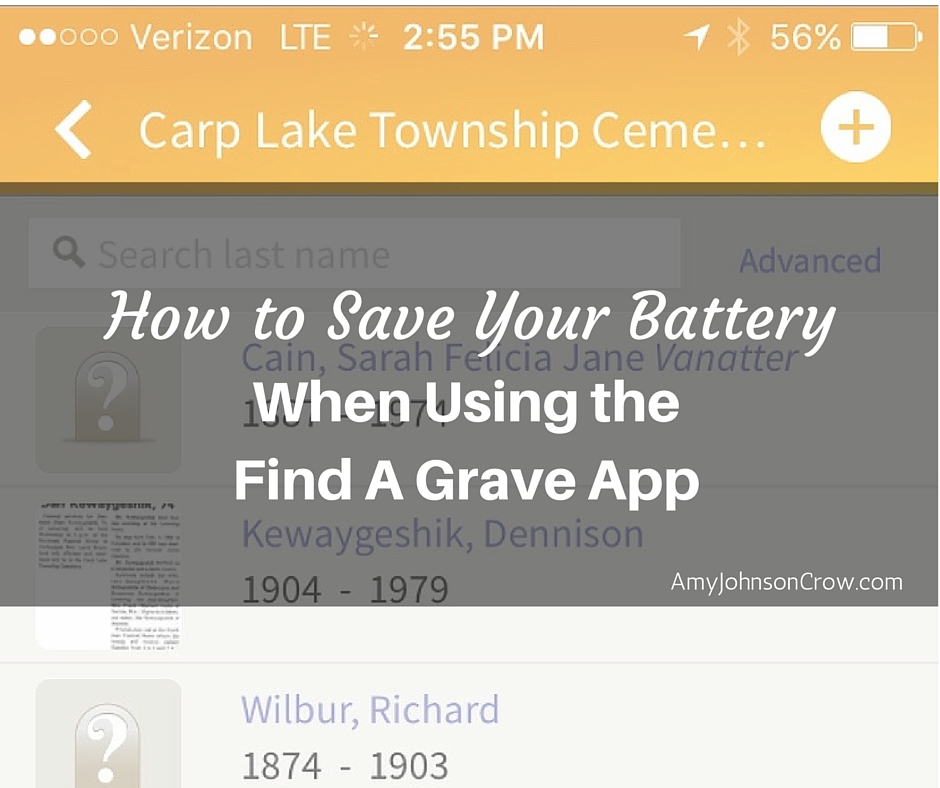 How to Save Your Battery When Using the Find A Grave app