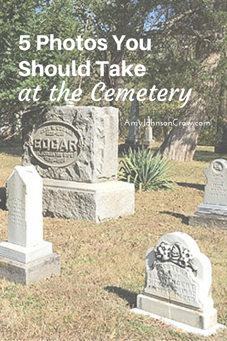 Cemetery photos are great in genealogy, but only if you get the right ones. Here are 5 photos you should take every time you go to the cemetery.