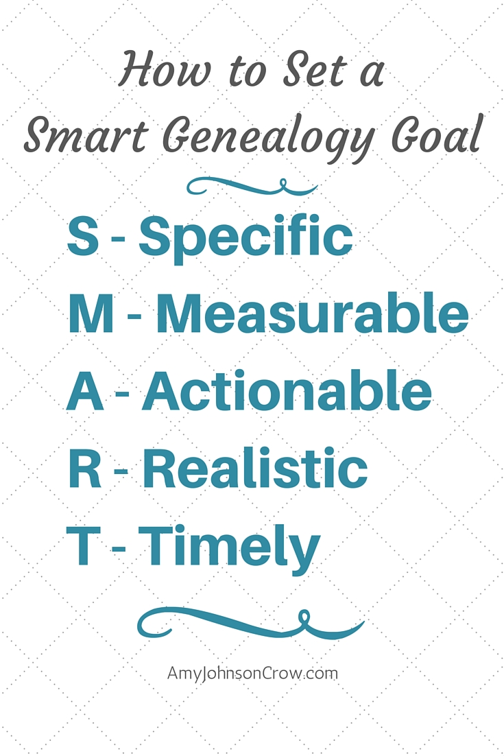 If your genealogy goals and resolutions get you nowhere, it might be how you state your goal. Here's how to make a goal for a better chance at success.