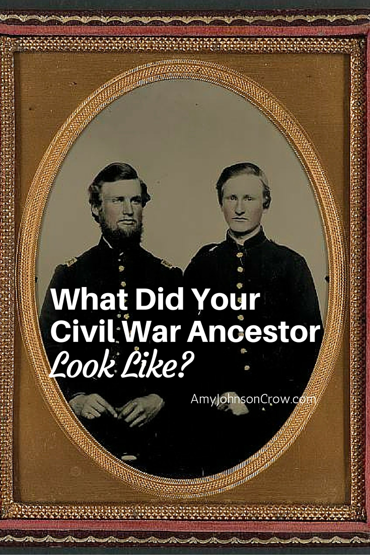 You can discover a description of your #CivilWar ancestor in several types of records. These are great even if you have a photo of him, as many give details not easily seen in photographs. #genealogy #familyhistory #military