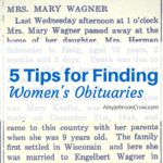5 Tips for Finding Women's Obituaries