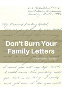 Don't Burn Your Family Letters When Decluttering