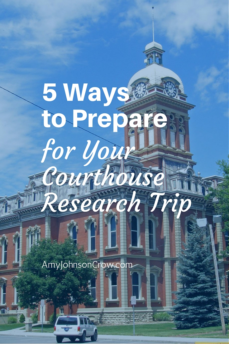 A courthouse research trip can give us answers that we're looking for in our genealogy. Here are 5 tips for how to prepare and get the most out of it.