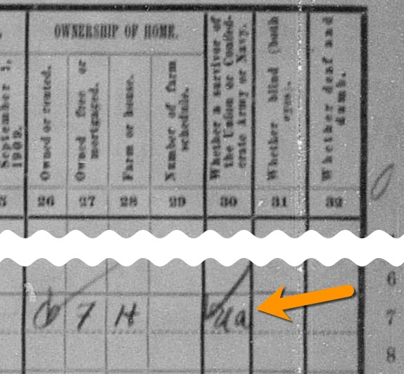 The 1910 census has a column for Civil War veterans