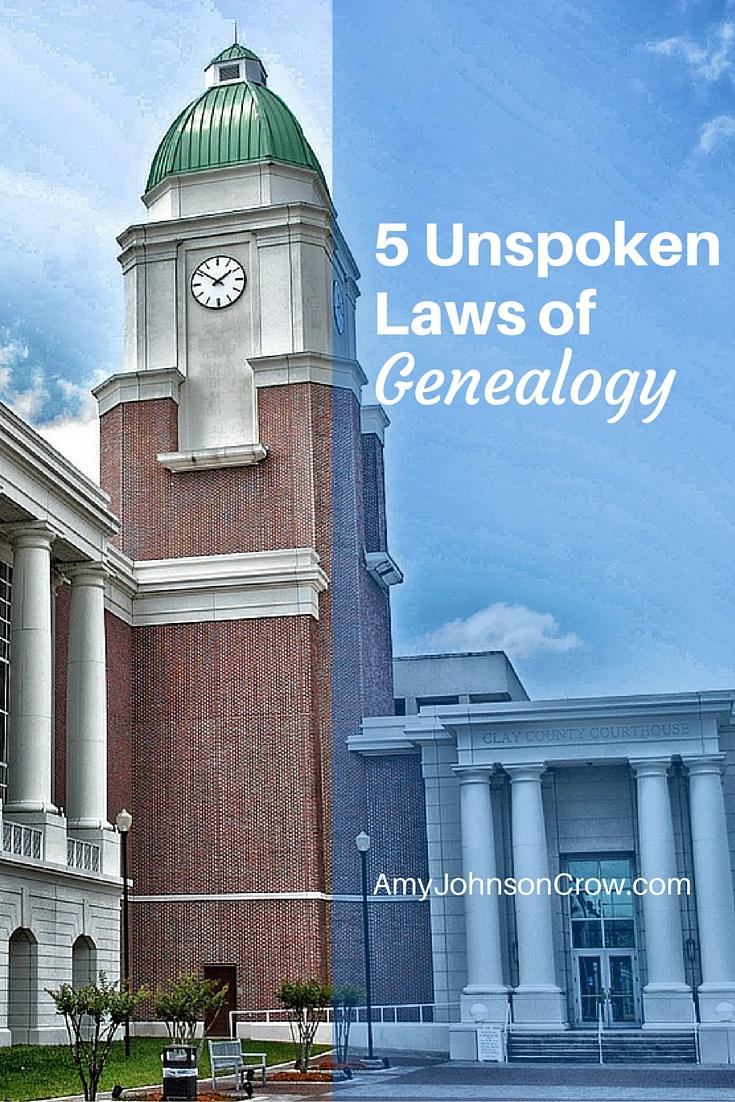 5 Unspoken Laws of Genealogy