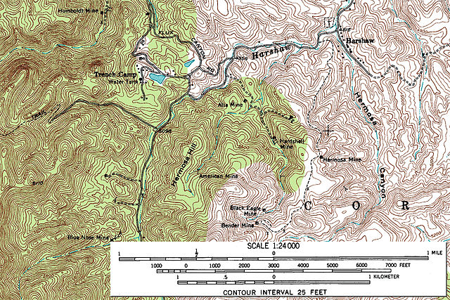 5 Types of Maps Every Genealogist Should Know - Topographic Map