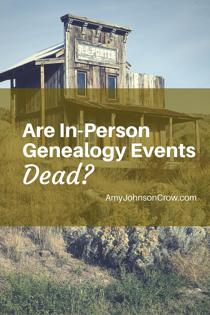 Are webinars killing off in-person genealogy conferences and seminars? See why in-person events are good & how they can be better.
