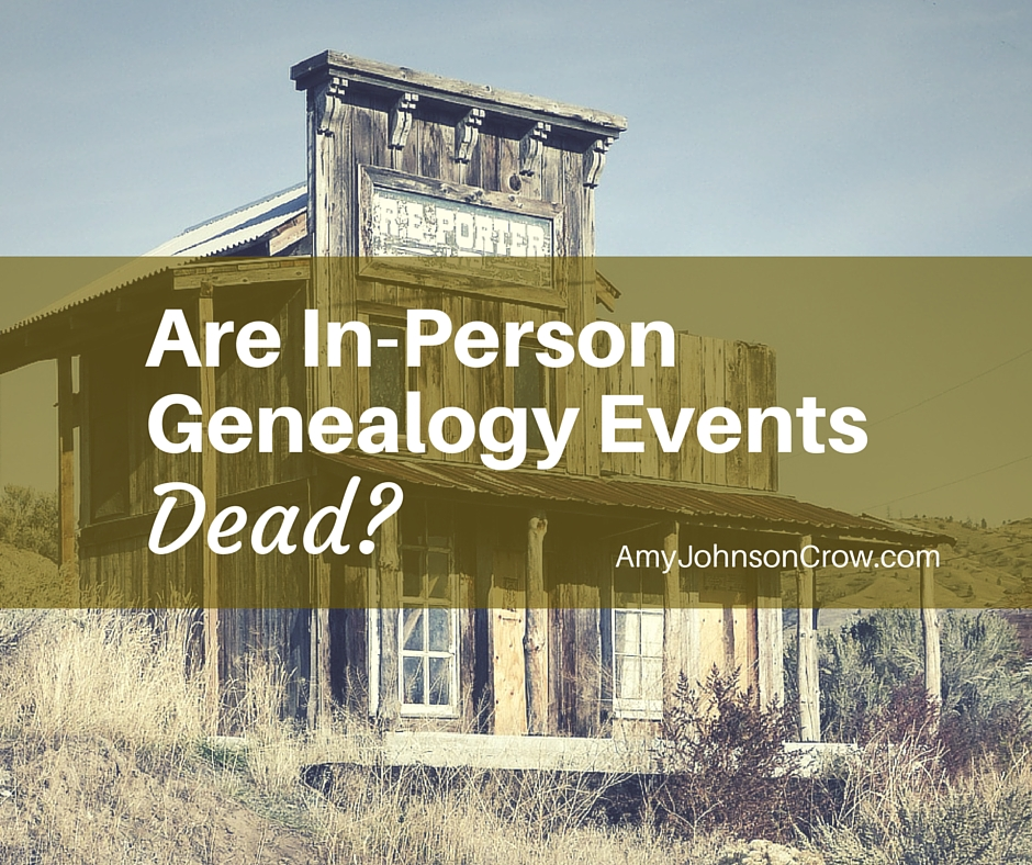In-Person Genealogy Events