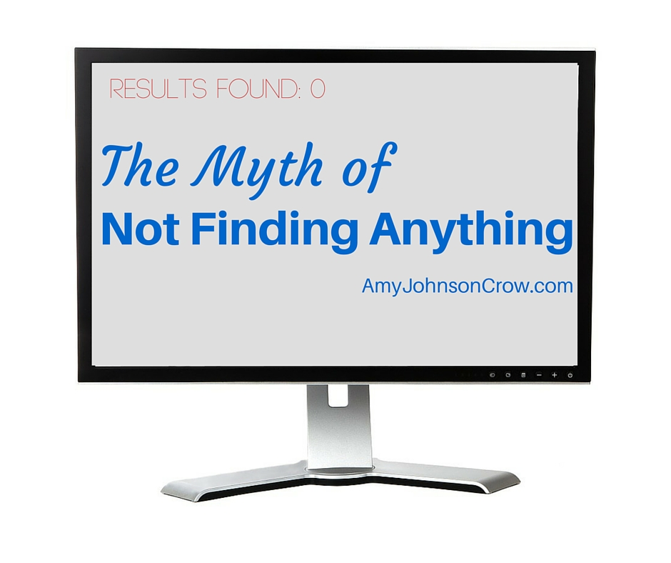 Not Finding Anything