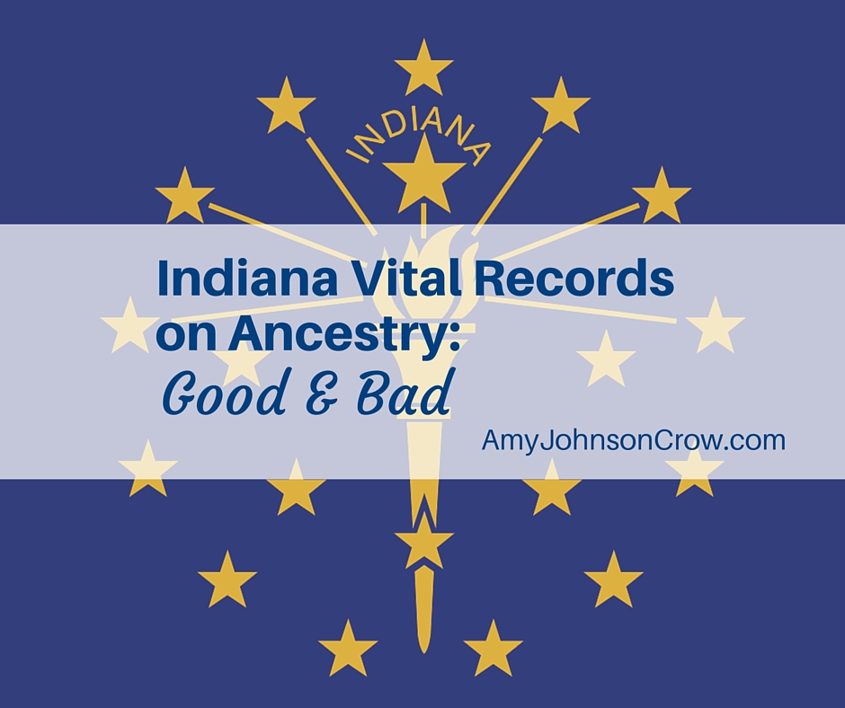 Indiana Vital Records on Ancestry