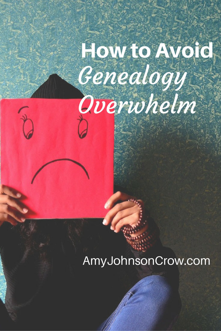It's easy to feel overwhelmed in genealogy research. Here are some ways to de-stress your family history activities.