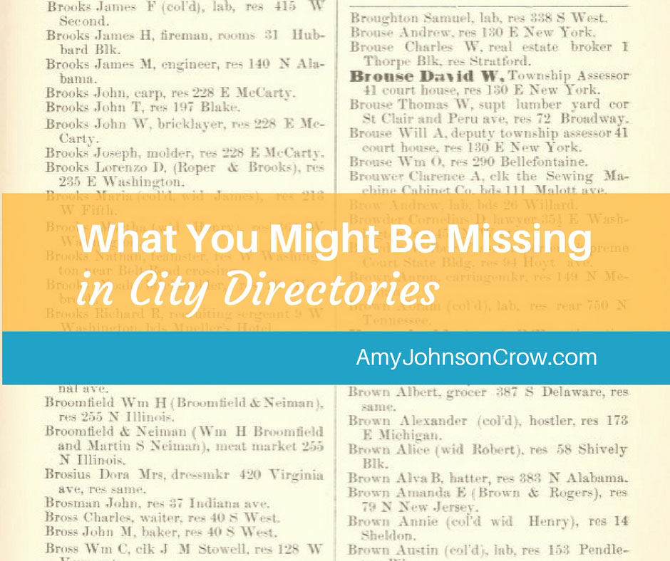 What You Might Be Missing in City Directories