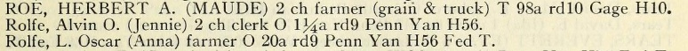 Yates, Schuyler, Tompkins and Seneca Counties, New York Farm Directory