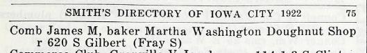 Iowa City, Iowa City Directory, 1922