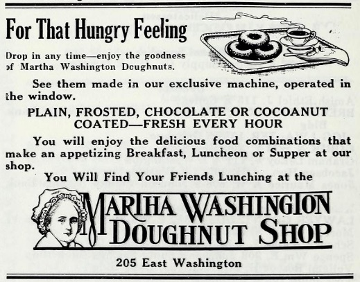 Martha Washington Doughnut Shop, Iowa City, Iowa, 1922