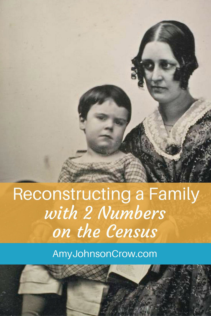 Many of our ancestors' families lost children. Here's how you can reconstruct a family using numbers in the 1900 and 1910 censuses.