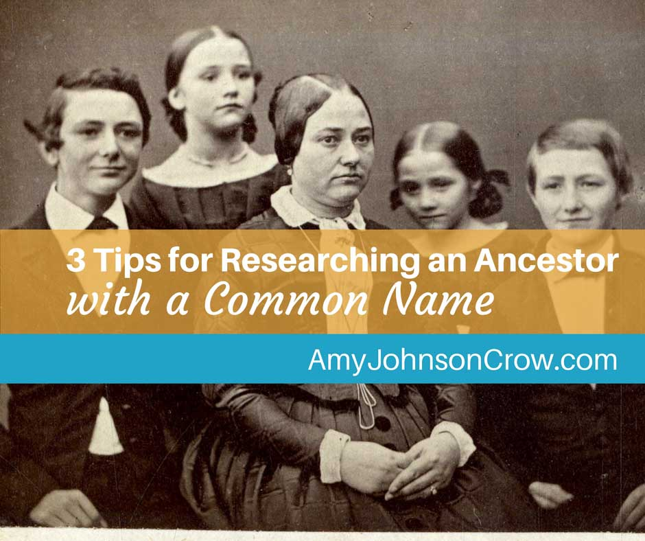 Researching Ancestors with a Common Name