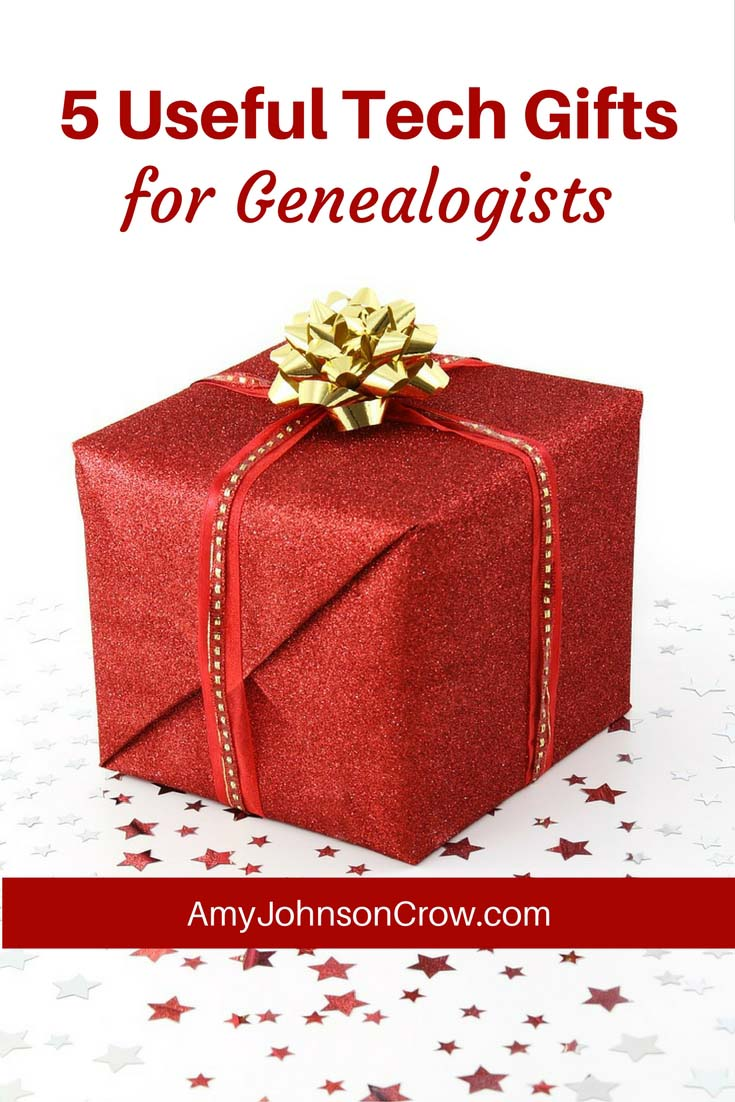 Here are 5 useful tech gifts for genealogists. These gifts won't just sit in a drawer.
