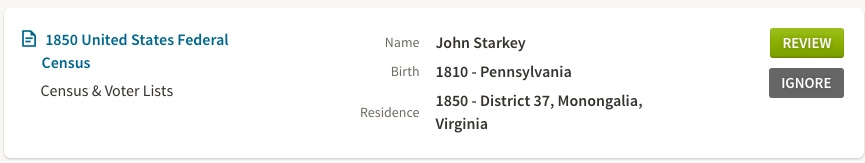 John Starkey 1850 census hint