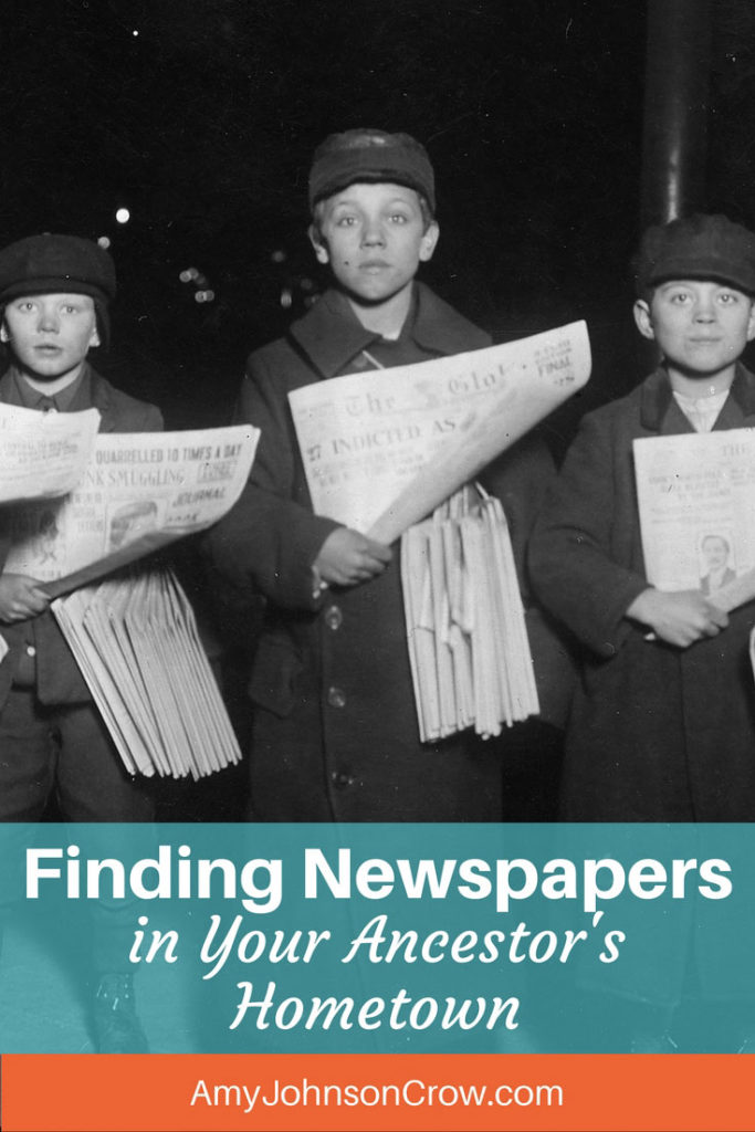 Finding newspapers from long ago can be tough. Here is a resource to help you identify them along with steps to locating them.