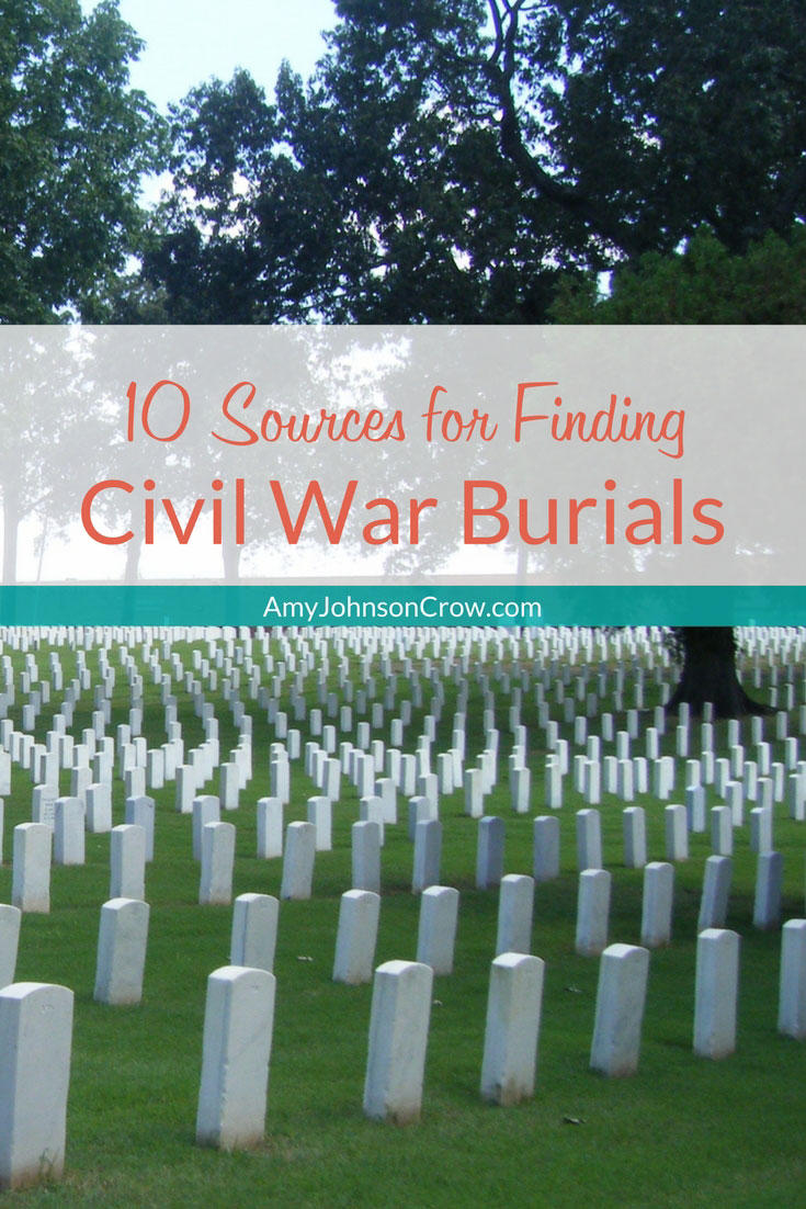 These sources will help you track down a Civil War burial, whether Union or Confederate.