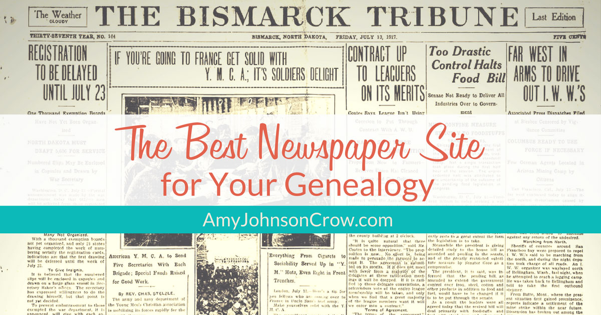 The Best Newspaper Site for Your Genealogy