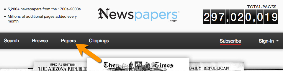 Newspapers.com website