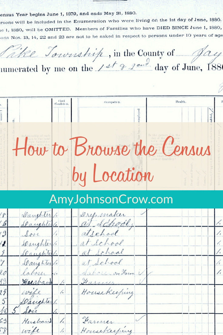 Browse the census by location when you can't find your ancestor when searching by name.