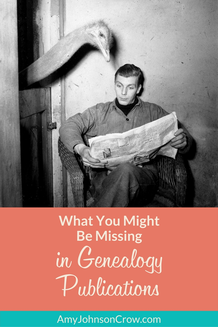 What You Might Be Missing in Genealogy Publications