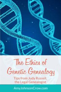 The Ethics of Genetic Genealogy