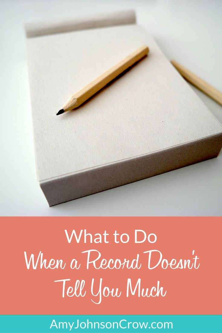 What to Do When a Record Doesn't Tell You Much