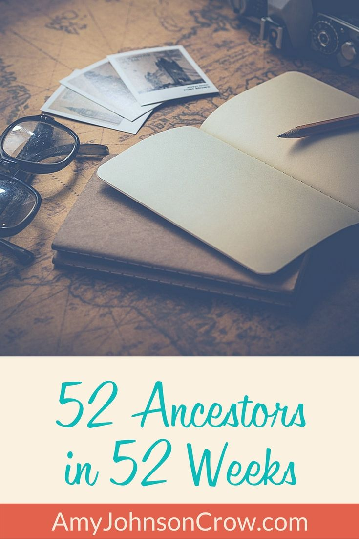 Share your #genealogy with this series of weekly prompts. #familyhistory #52Ancestors