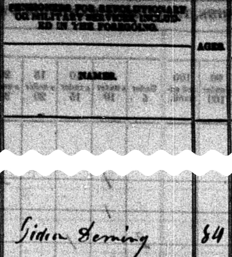 1840 census showing military pensioners