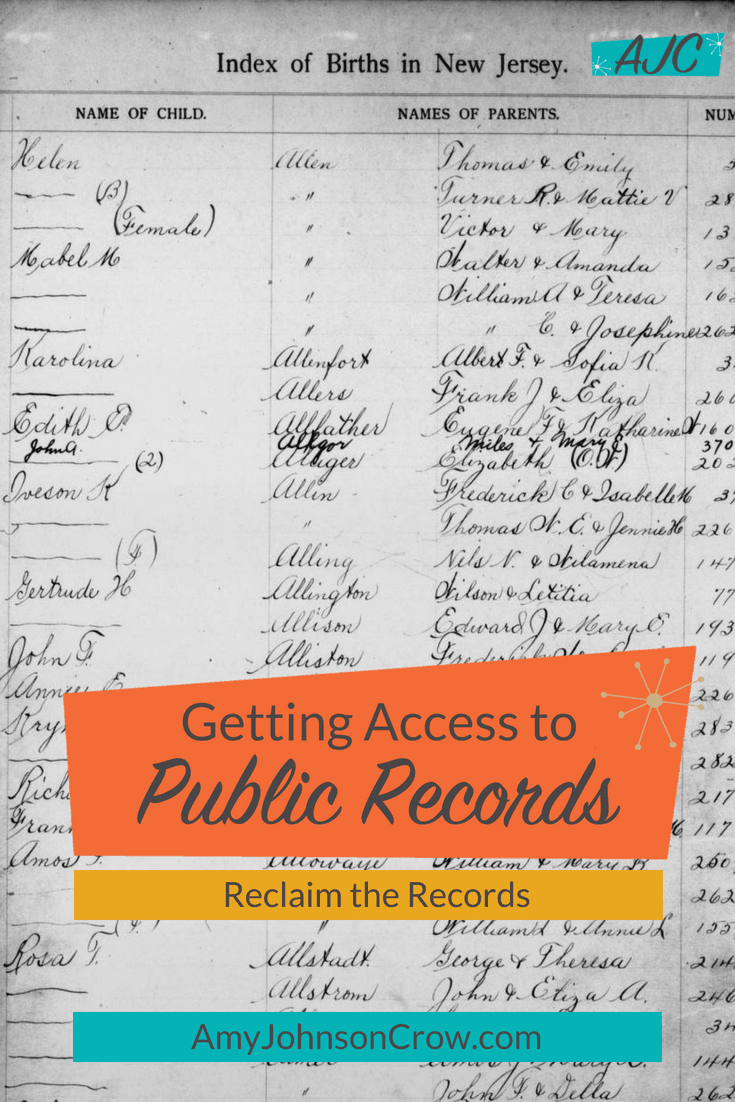 There are times when records that are supposed to be public are being restricted by the office that holds them. Learn about Reclaim the Records, an organization fighting for #openrecords access, a cause of vital importance to #genealogy and #familyhistory.