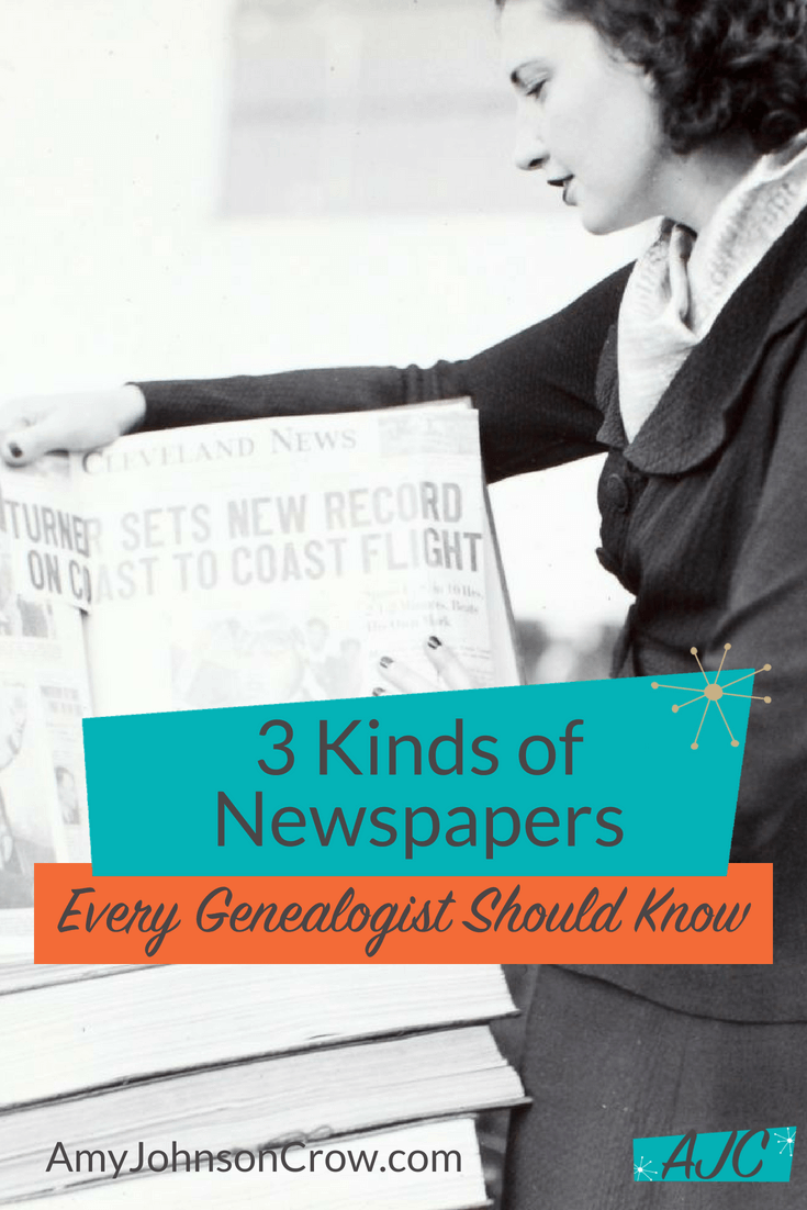Besides the regular hometown daily or weekly newspaper, genealogists should look at these three kinds of newspapers. #genealogy #familyhistory #ancestry