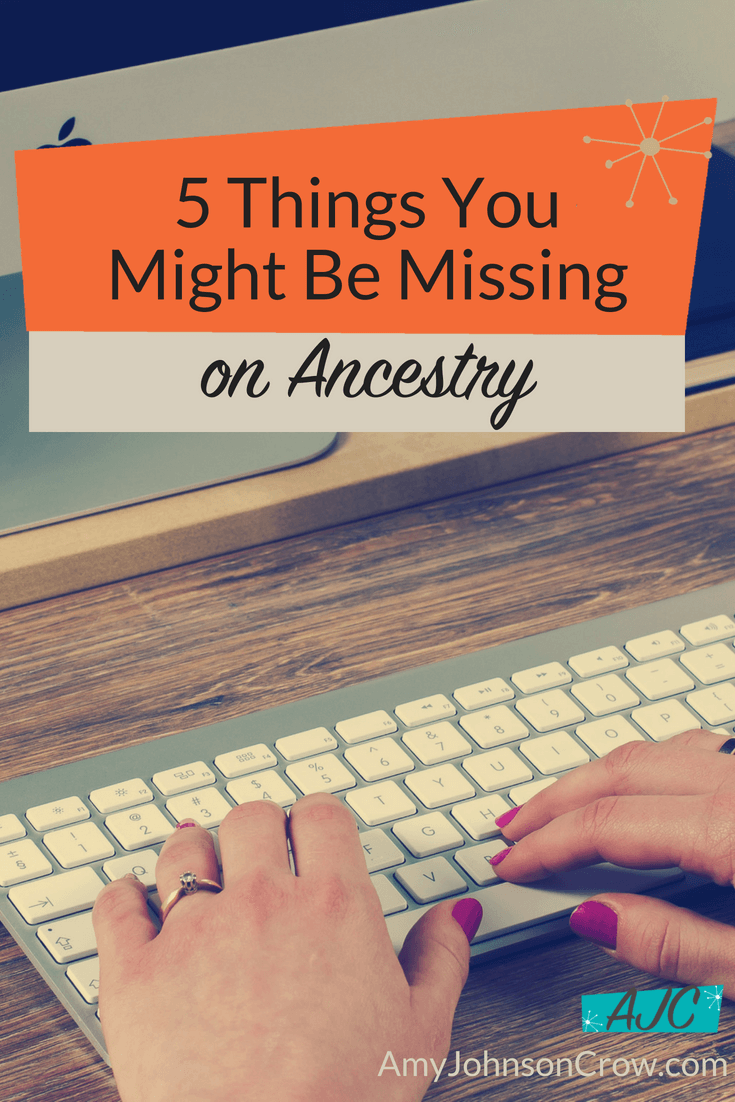 It's easy to overlook these 5 features on Ancestry. However, using them will help your #genealogy research be more productive. #familyhistory #ancestry