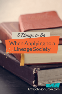 Applying to a Lineage Society