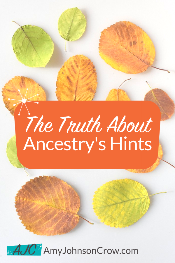 Ancestry's hints - those shaky leaves - have some limitations for genealogy research. Here are the limits and how to work around them. #genealogy #familyhistory