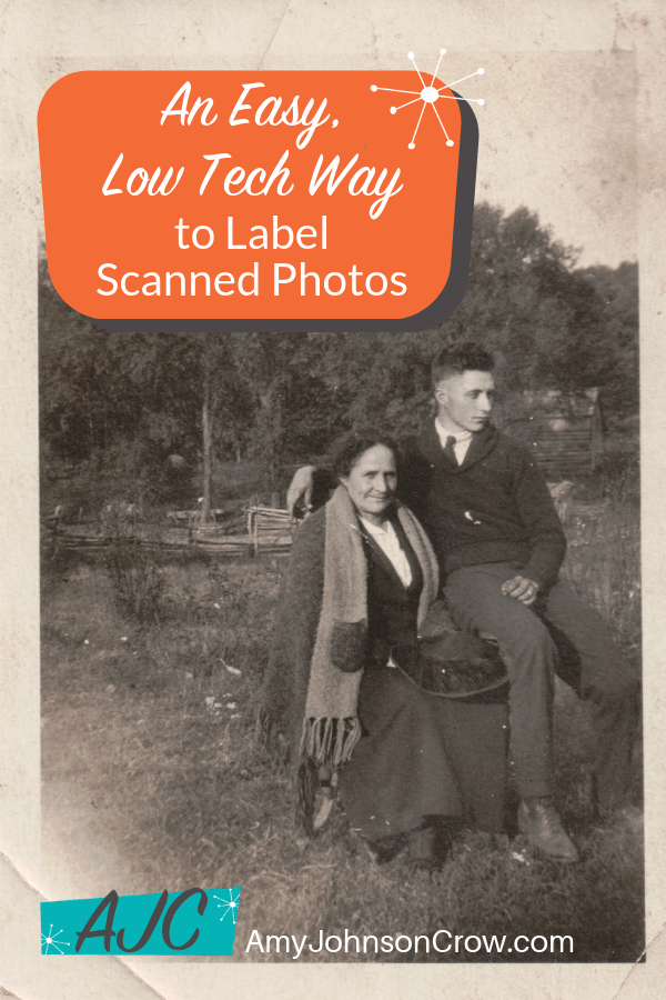 Scanning photos is easy. It's the labeling that's a pain. Here's an easy, low-tech way to label scanned photos that will save you time and frustration.