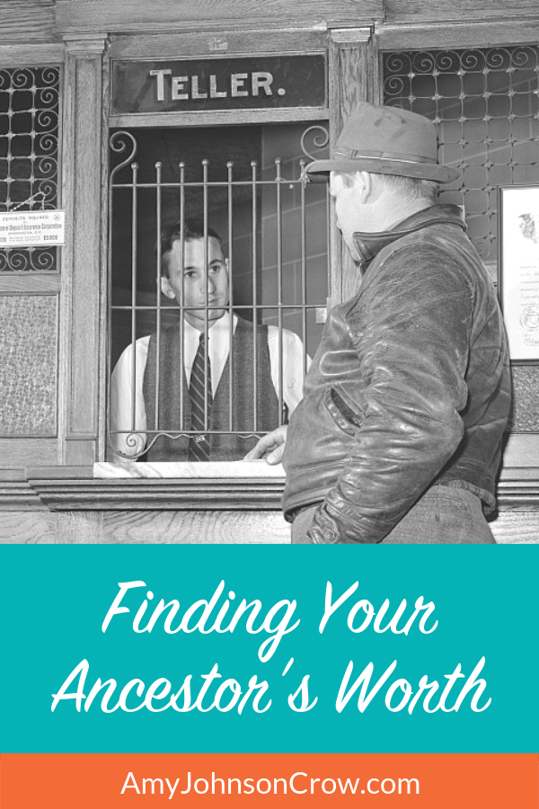 Examining finances is an overlooked aspect of genealogy research. Here are some common records that we can use to determine how much our ancestors were worth financially. #genealogy #familyhistory #generationscafe