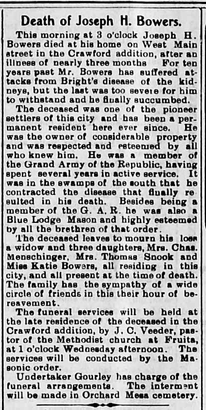 Using an obituary to determine identity in genealogy